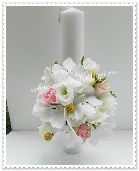 Lumanari de nunta scurte frezii,orhidee.9910